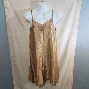 Gold Satin Nightgown